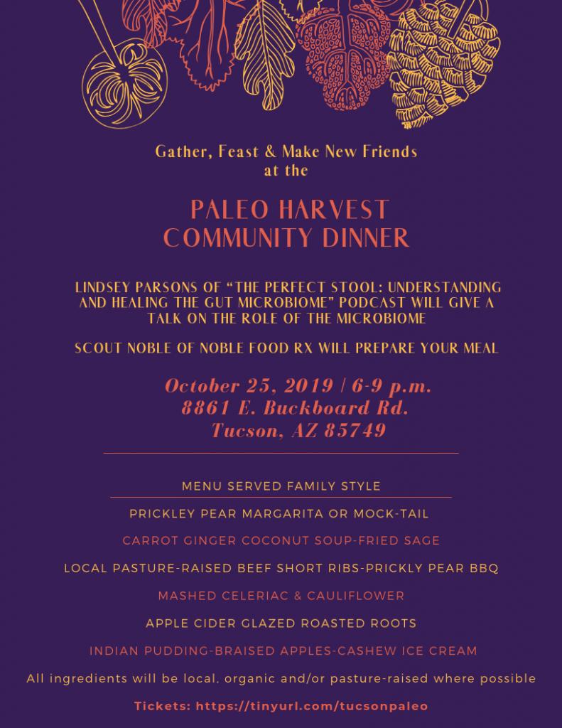 Paleo Harvest Community Dinner Poster