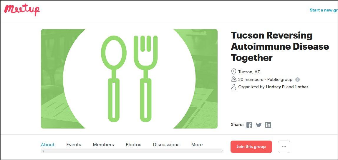 Tucson Reversing Autoimmune Disease Together Meetup
